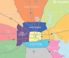 Houston map by district