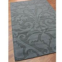 @Overstock.com - A damask print rises from the pile of this unique wool rug. This area rug features grey coloring and will make a cozy addition to your home.http://www.overstock.com/Home-Garden/Handmade-Alexa-Neutrals-and-Textures-Damask-Grey-Wool-Rug-8-x-11/4809053/product.html?CID=214117 CAD              524.37