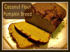 Coconut Flour Pumpkin Bread – This delicious sweetbread is grain free and dairy free and is made with coconut flour. This coconut flour pumpkin bread recipe is a great grain free sweetbread to make around the holidays! Arrowroot powder makes this loaf lighter but if you don't have it on hand you can omit it from the recipe. …
