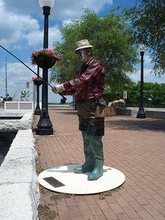 Sculpture of a Fisherman...Dayton, Ohio