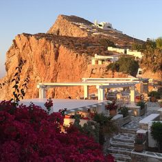 """How stunning is the late afternoon sun hitting the cliffs of Folegandros , Greece. The Panaghia Chapel is in the distance and is the highest point #greekislands #cliffs_Greece #explore_Greece #travel #lifestyle #instatravel #chapels_Greece #bougainvillea #reasontovisitGreece #loves_Greece #life_Greece #ig_Greece #travel_Greece #bns_Greece"" Photo taken by @hello_me_escapes on Instagram, pinned via the InstaPin iOS App! http://www.instapinapp.com (06/12/2015)"
