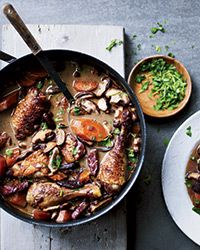 Coq au Vin | this dish usually marinates overnight, but this lighter, quicker version is equally delicious