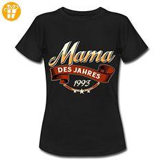 Mama Des Jahres Jahrgang 1993 RAHMENLOS Geschenk Frauen T-Shirt von Spreadshirt®, XXL, Schwarz - Shirts zum 30 geburtstag (*Partner-Link)