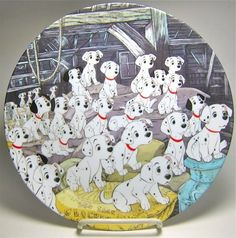 101 Dalmatians puppies decorative plate from Fantasies Come True
