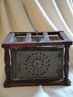 Antique Pierced Tin Foot Warmer by payMeNpeonies on Etsy, $90.00
