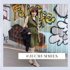 09a0ce4934c35 Mummy @katielewww in our QUINN COLLARED NURSING DRESS in Green. We know our  favourite