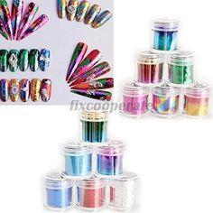 Smile 12 Rolls Mix Color Nail Art Transfer Foils Set Dazzle Colour Sticker >>> Click image for more details.