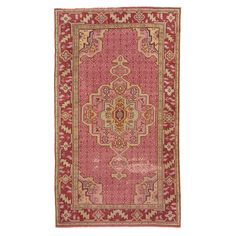 "Antique Anatolian Wool Rug - 3'3""x5'8"""