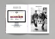 Take a look at this modern magazine / brochure templates in print and digital versions. it is a product in the calm-b. Fashion Catalogue, Brochure Template, Behance, Calm, Magazine, Templates, Mini, Flyer Template, Stencils