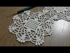 Filet Crochet, Crochet Motifs, Crochet Stitches, Crochet Small Flower, Crochet Round, Crochet Table Runner, Crochet Tablecloth, Irish Crochet Patterns, Knitting Patterns