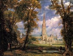 John Constable - Salisbury Cathedral from the Bishops' Grounds (1823)