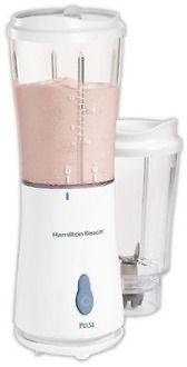 Hamilton Beach 51102 Single-Serve Blender with 2 Jars and 2 Lids, White