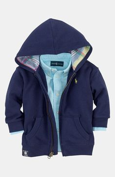 Polo Ralph Lauren Terry Hoodie (Baby Boys) available at #Nordstrom