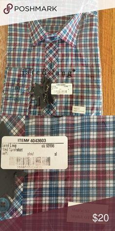 NWT Jared Lang plaid sportshirt XL NWT model OTT92096 Jared Lang Shirts Casual Button Down Shirts