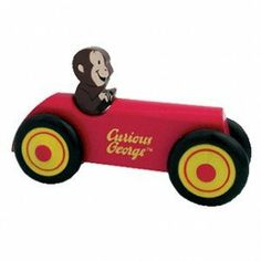Curious George Wooden Car Collectible by Schylling by Schylling. $9.00. Made by Schylling. Real wood. Measures 5? x 3.5?. Non-toxic paint. George get's his engine going, Zoooooom!