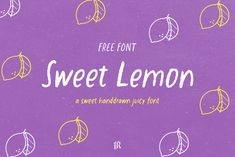Hand Drawn Fonts, Free Hand Drawing, Social Media Template, Free Fonts Download, Menu Restaurant, 100 Free, How To Draw Hands, Lemon, Greeting Cards