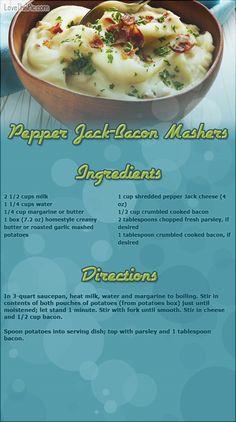 Pepper Jack Bacon Mashers thanksgiving recipes thanksgiving recipes easy recipes ingredients instructions baking recipe ideas dinner recipes