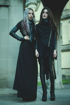Mixed Style: Hipster Clean Goth & Glam Goth Chic.