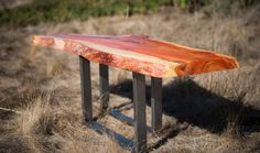 Custom Carob Table from the Raw Collection by TheTimberLibrary, $700.00 SOLD