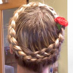 When my hair was long I used to wear braids like these