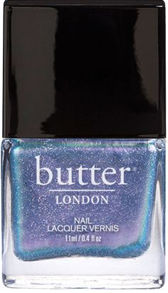 I used this as a top coat on a periwinkle and it created the most brilliant 3D effect! Like looking at holographic stars in the sky miles and miles away. LOVE IT!  Duochrome Glitter Nail Polish – Knackered : butter LONDON