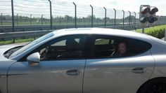 Hitting the track in a Porsche Panamera in Leipzig