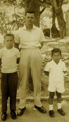 Meu avô materno Nelson de Oliveira e meus tios