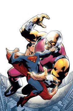 Superman vs Mongul by Ryan Sook