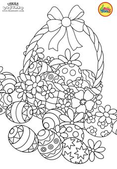 Easter coloring pages - Uskrs bojanke za djecu - Free printables, Easter bunny, eggs, chicks and more on BonTon TV - Coloring books Easter Egg Coloring Pages, Cat Coloring Page, Animal Coloring Pages, Colouring Pages, Coloring Pages For Kids, Coloring Books, Easter Egg Crafts, Easter Bunny, Free Printable Coloring Pages