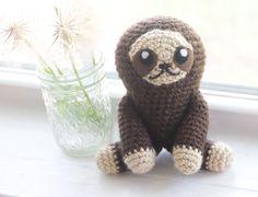 Items similar to Sloth Stuffed Animal - Sloth Gift- Crochet Sloth - Custom Sloth - Sloth Plush - Sloth Plushie - Sloth Decor - Sloth Nursery on Etsy Crochet Sloth, Sloths, Plushies, Free Pattern, Projects To Try, Teddy Bear, Etsy, Handmade, Animals