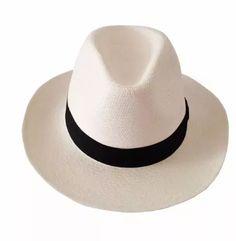 chapéu panamá aba longa masculino feminino faixa preta Chapéus Da Moda 05df59513c6