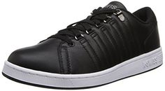 KSwiss Womens Lozan III Leather Plain Toe SneakerBlackWhite7 M US *** You can get additional details at the affiliate link Amazon.com.