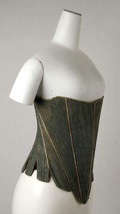 Corset    Date:      third quarter 18th century  Culture:      American  Medium:      flax, cotton, leather, wood