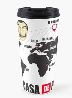 $29.46 White Black Tumbler coffee Mug Money Heist Bella Ciao Oslo, Shops, Travel Mug, Tumbler, People, Coffee Mugs, Money, Tableware, Black