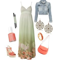 Love the dress and jacket together.  Cute!
