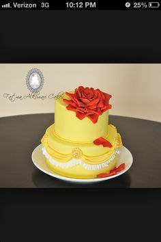 Belle cake bridal shower maybe?