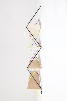 Serpent wall shelves by Bashko Trybek