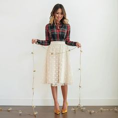 Feeling festive in #tulle and #plaid on the blog today! And my shirt is on sale for 30% off! See full outfit details at www.laceandlocks.com. #laceandlocks #ootd #ltkholidaystyle #ltkholiday #ltkunder100 @liketoknow.it www.liketk.it/22Qgf #liketkit #ltksalealert  by @shecapturesmoments