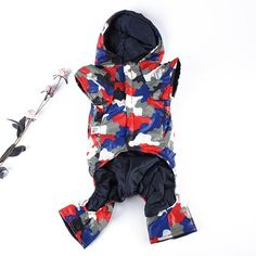 Camouflage Thick Dog Down Coat Pet Clothes Winter Puppy Outwear Jacket Jumpsuit HH1 #Affiliate