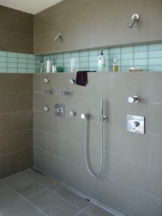 master bath shelf and light idea