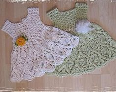 Crochet baby girl dress - crochet pattern