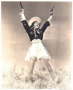Cowgirl ♥ http://www.darkroastedblend.com/2009/10/lovely-cowgirls-in-vintage-westerns.html #cowgirl