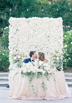 Lush floral wall backdrop
