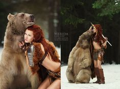 Enchanting Portraits Of Fairytale Scenes Featuring Wild Animals - Russian photographer takes enchanting fairytale photos featuring wild animals