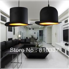 119.00$  Watch now - http://aliqvv.worldwells.pw/go.php?t=32609873977 - 2 Lights Jeeves and Wooster Bowler/Tall Hat Ceiling Light Lamp Lighting chandelier 119.00$
