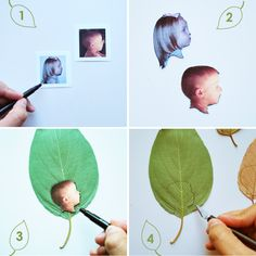 step by step DIY leaf silhouettes
