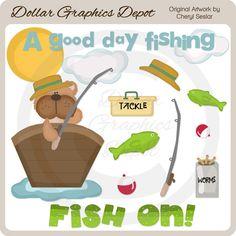A Good Day Fishing - Clip Art