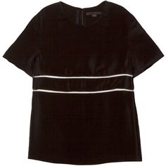 Alexander Wang Scoop Neck Tee ($425) ❤ liked on Polyvore featuring tops, t-shirts, alexander wang, brown t shirt, silk top, short sleeve t shirts, short sleeve silk top and brown tops