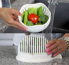 3-in-1 Salad Chopper Lets You Rinse, Chop, and Serve Salads in 60 Seconds