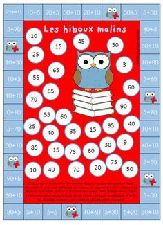 Math - (page - nicole ni papier Math 2, 1st Grade Math, Math Board Games, Math Games, Subtraction Games, Childhood Education, Kids Education, Montessori Math, Learning Styles